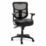 Alera® Elusion Series Mesh Mid-Back Multifunction Chair - Black Leather [ALEEL4215-FS-NAT]