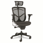 Alera® EQ Series Ergonomic Multifunction High-Back Mesh Chair - Black Base [ALEEQA41ME10B-FS-NAT]
