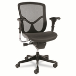 Alera® EQ Series Ergonomic Multifunction Mid-Back Mesh Chair - Black Base [ALEEQA42ME10B-FS-NAT]