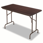 Alera® Wood Folding Table - Rectangular - 48w x 24d x 29h - Walnut [ALEFT724824WA-FS-NAT]