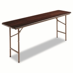 Alera® Wood Folding Table - Rectangular - 72w x 18d x 29h - Walnut [ALEFT727218WA-FS-NAT]