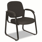 Alera® Reception Lounge Series Sled Base Guest Chair - Black Fabric [ALERL43C11-FS-NAT]