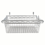 Alera® Sliding Wire Basket For Wire Shelving - 18w x 24d x 8h - Silver [ALESW59WB2418SR-FS-NAT]