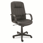 Alera® Sparis Series Executive High-Back Swivel/Tilt Chair - Leather - Black [ALESP41LS10B-FS-NAT]