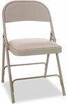 Alera® Steel Folding Chair with Padded Seat - Tan - 4/Carton [ALEFC94VY50T-FS-NAT]