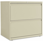 Alera® Two-Drawer Lateral File Cabinet - 30w x 19-1/4d x 28-3/8h - Putty [ALELF3029PY-FS-NAT]