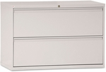 Alera® Two-Drawer Lateral File Cabinet - 42w x 19-1/4d x 28-3/8h - Light Gray [ALELF4229LG-FS-NAT]