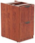 Alera® Valencia File/File Drawer Full Pedestal - 15 5/8 x 20 1/2 x 28 1/2 - Medium Cherry [ALEVA542822MC-FS-NAT]