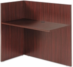 Alera® Valencia Reversible Reception Return - 44w x 23 5/8d x 41 1/2h - Mahogany [ALEVA324424MY-FS-NAT]