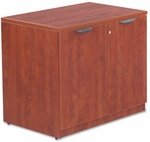 Alera® Valencia Series Storage Cabinet - 34w x 22 3/4d x 29 1/2h - Medium Cherry [ALEVA613622MC-FS-NAT]