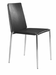 Alex Stacking Dining Chair in Black [101105-FS-ZUO]