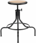 All Purpose Mid Range Swivel Backless Stool with Four Legged Base [221M-FS-UC]