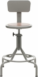 All Purpose Stool Mid Range Swivel Seat and Four Legged Base [223M-FS-UC]