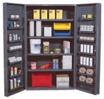 All-Welded Storage Cabinet with 18 Shelves [QSC-4IS-14DS-QSS]