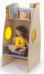 Alone Zone Bookcase with Seating Underneath [WB0240R-FS-WBR]