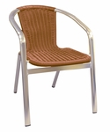 Aluminum Chair with Simulated Wicker [56-SAT]