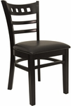 American Back Chair with Black Finish and Black Vinyl Seat [8226-B-BLACK-HND]