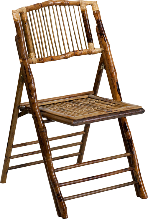 American Champion Bamboo Folding Chair X BAM GG by Flash Furniture