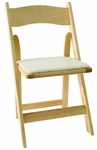 American Classic Natural Wood Folding Chair [A101-WOOD-NATURAL-CSP]