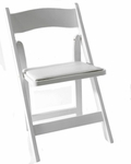 American Classic White Wood Folding Chair [A101-WOOD-WHITE-CSP]