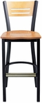 Americana Woods Slotted Back Barstool [952-30-MTS]