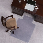 EverLife 36''W x 48''D Extra High Pile Beveled Edge Anchorbar Chairmat with 20''W x 10''D Lip [124083-FS-ES]