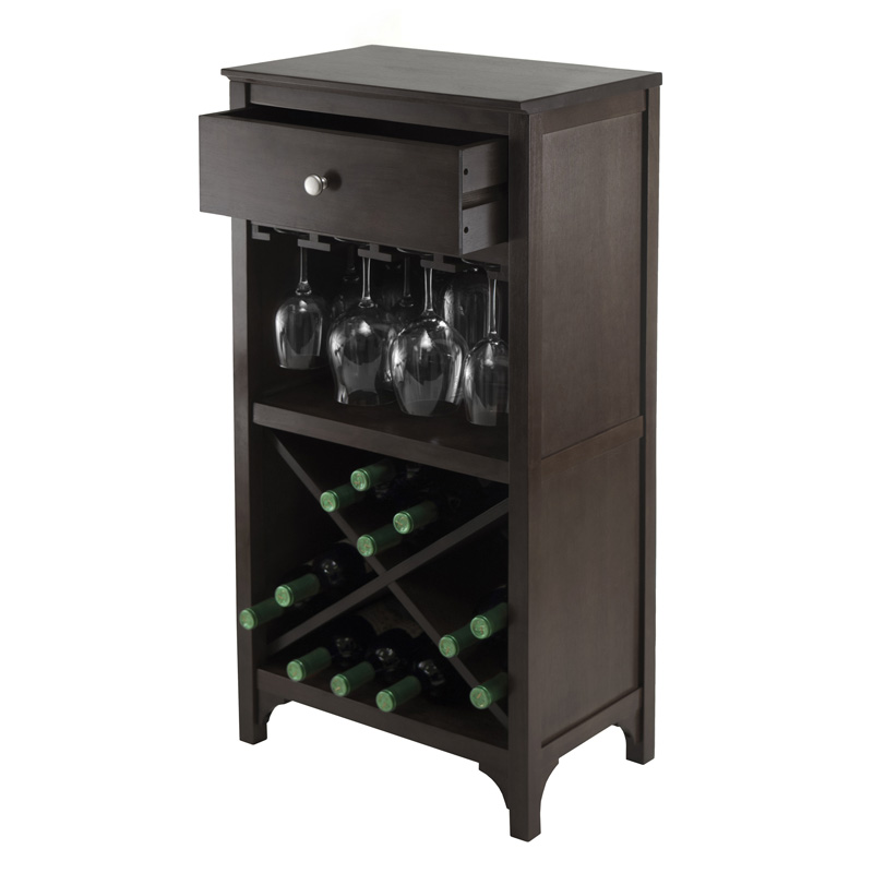 ancona modular x shelf wine cabinet with one drawer and. Black Bedroom Furniture Sets. Home Design Ideas