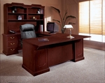Andover Left Executive U Desk - Sherwood Mahogany [7462-79-FS-DMI]
