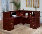 Andover Left Reception L Desk - Sherwood Mahogany [7462-67-FS-DMI]