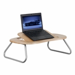 Angle Adjustable Laptop Desk with Natural Top [NAN-JN-2779-GG]