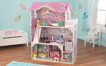 Annabelle Pink Girly Dollhouse for 12''H Dolls Includes 17 Pieces of Wood Furniture [65079-FS-KK]