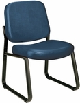 Anti-Microbial and Anti-Bacterial Vinyl Guest and Reception Chair - Navy [405-VAM-605-MFO]