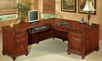 Antigua Left Executive L Desk - West Indies Cherry [7480-56-FS-DMI]