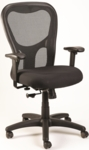 Apollo Synchro High Back 26'' W x 24'' D x 41'' H Adjustable Height Mesh Back Task Chair - Black [MM9500-PM01-5806-FS-EURO]