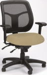 Apollo 26'' W x 20'' D x 36'' H Adjustable Height Mesh Back Multi Function Task Chair - Fabrix [MFT9450-FAB-FS-EURO]