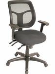 Apollo 26'' W x 20'' D x 36'' H Adjustable Height Mesh Back Multi Function Task Chair - Black [MFT9450-PM01-5806-FS-EURO]