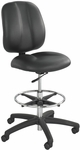 Apprentice II Ergonomically Supportive Extended Height Vinyl Office Chair - Black [7084BL-FS-SAF]