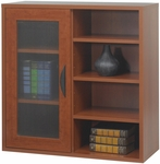 Apres™ 29.75'' W x 11.75'' D Modular Storage Single Door Open Shelves - Cherry [9444CY-FS-SAF]