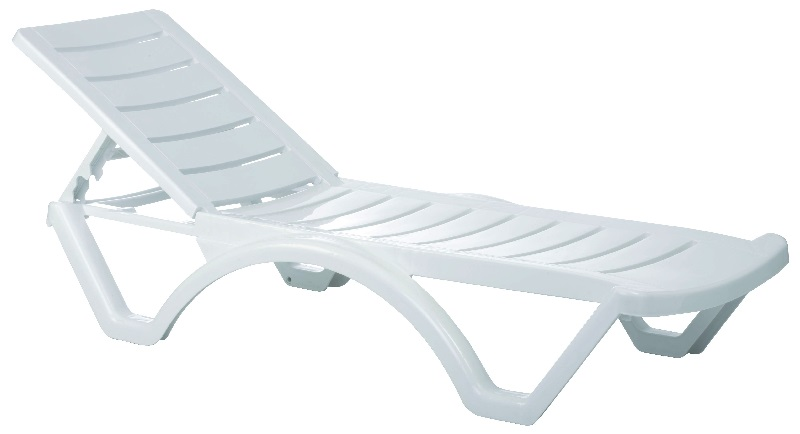 Aqua pool chaise lounge white isp076 whi by compamia for Aqua chaise lounge