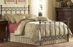 Argyle Diamond Pattern Metal Bed with Frame - King - Copper Chrome [B11286-FS-FBG]