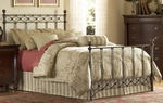 Argyle Diamond Pattern Metal Bed with Frame - Queen - Copper Chrome [B11285-FS-FBG]