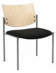 1300 Series Stacking Armless Guest Chair with Natural Wood Back - Grade 1 Upholstered Seat [1310SL-SP22-GR1-IFK]