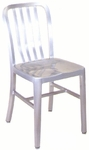 Armless Slat Back Aluminum Chair [57-SAT]