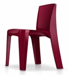 RazorBack Armless Intense Use 30'' H Stack Chair - Plum [86484P-CORT]