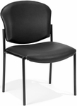Manor Anti-Bacterial and Anti-Microbial Vinyl Guest and Reception Chair - Black [408-VAM-606-MFO]