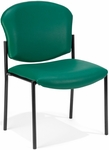 Manor Anti-Bacterial and Anti-Microbial Vinyl Guest and Reception Chair - Teal [408-VAM-602-MFO]