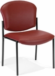 Manor Anti-Bacterial and Anti-Microbial Vinyl Guest and Reception Chair - Wine [408-VAM-603-MFO]