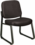 Anti-Microbial and Anti-Bacterial Vinyl Guest and Reception Chair - Black [405-VAM-606-MFO]