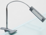 Contemporary Design Flexible Neck Diffused LED Art Lamp with USB Plug and Padded Clamp - Silver [12027-FS-SDI]