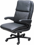 Atlantis Office Chair with Padded Headrest - Leathermate [OF-ATLN-LLM-FS-ARE]